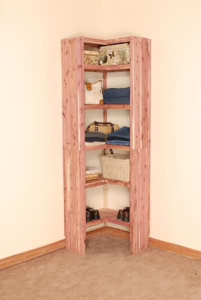 Aromatic Red Cedar Corner Cubby Kit. This Solid Cedar Closet Organizer Is  Perfect For Organizing