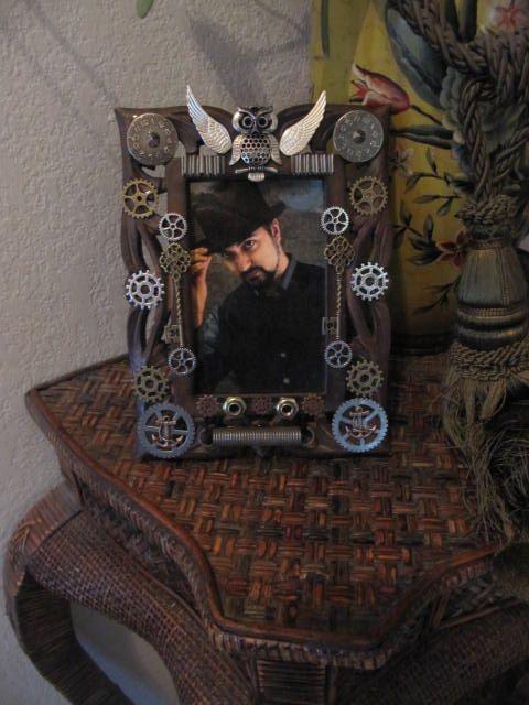 Frame, Steampunk, Picture Frame, Industrial Frame, Photography Frame, Man, Photo Holder, Photo Frame, Steampunk Frame, Gears, Industrial