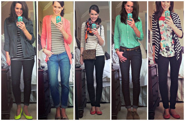 A week's worth of casual outfits for moms, teachers, etc.  See all five looks here:  http://getyourprettyon.com/daily-style-diary-entry-six/