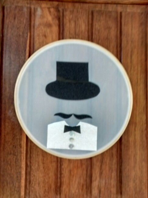 Placa indicativa para banheiro masculino