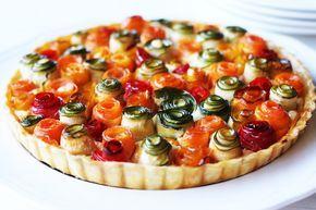 Torta di rose salata con verdure ricetta