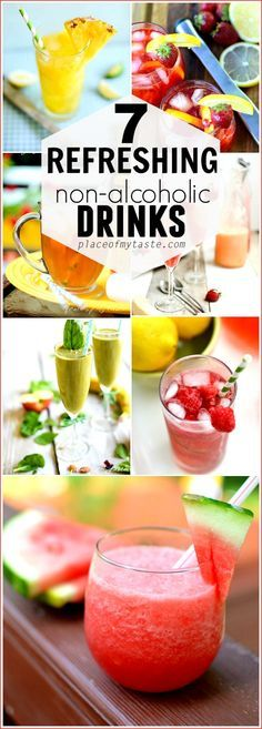 Refreshing non alcoholic drinks for this summer. Great drink recipes for your summer parties.