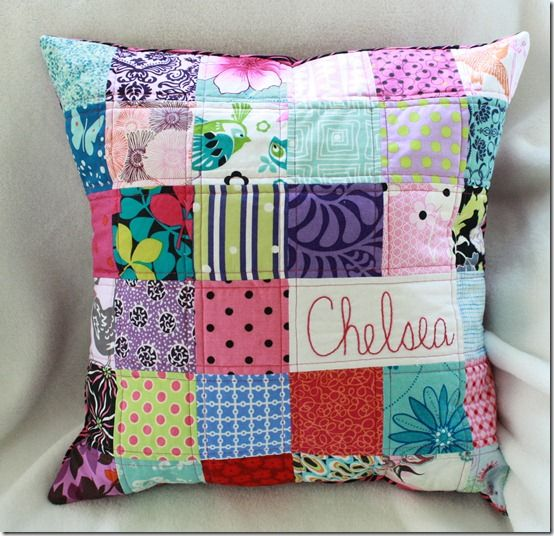 Love this pillow. Would be cute with old baby clothes