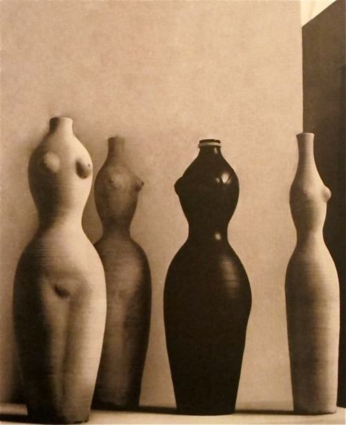 Vases (incredible forms) by French ceramic artist Georges Jouve (b 1910). via Mondoblogo