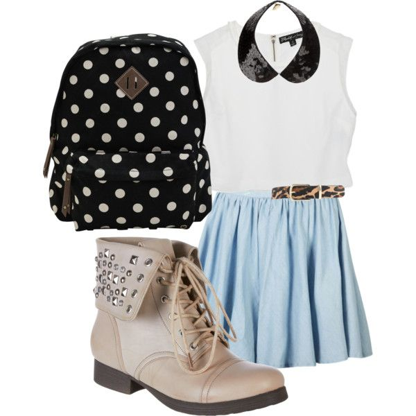 38 best school outfits 2013-2014 images on Pinterest | Teen girl fashion Feminine fashion and ...