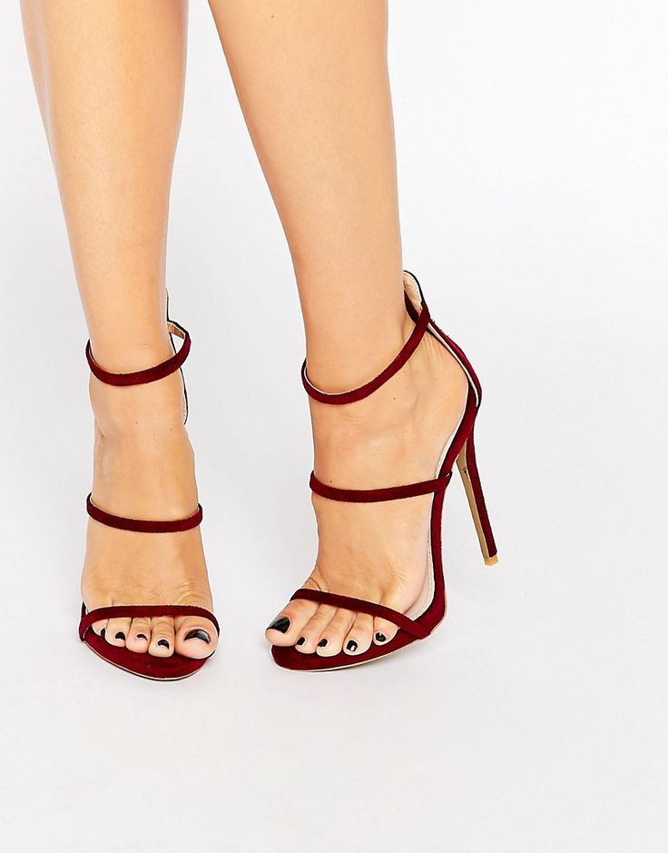 Public Desire Sparra Strappy Burgundy Heeled Sandals (affiliate)