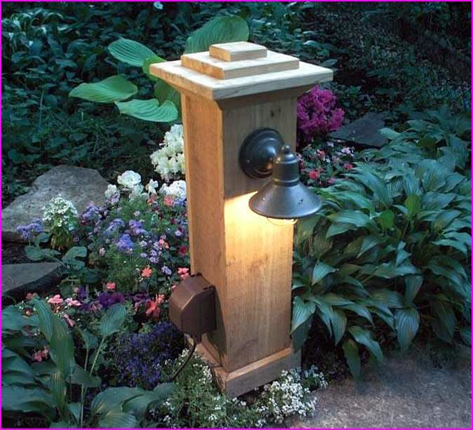 Outdoor Electric Lamp Post: Outdoor Decor & Craft