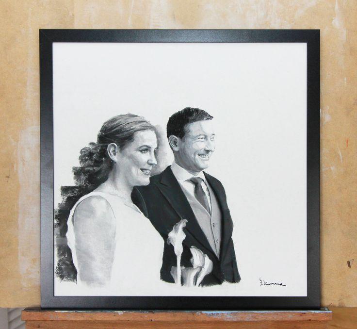 Couple portrait finished! pastel on paper