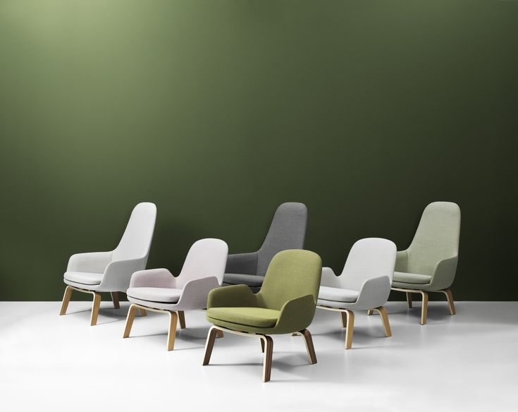 Era lounge chairs in dusted tones | by Normann Copenhagen