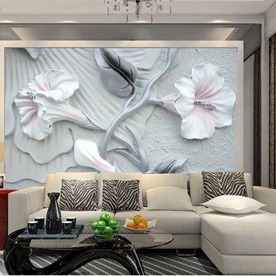 2015 Заказать 3d фото обои Новый спальня Телевидение стены фрески ПВХ тисненые обои лили-мерного стены картины