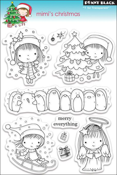 """Penny Black Clear Stamp 5"""" X 7.5"""" Sheet - Mimi's Christmas $12.74"""
