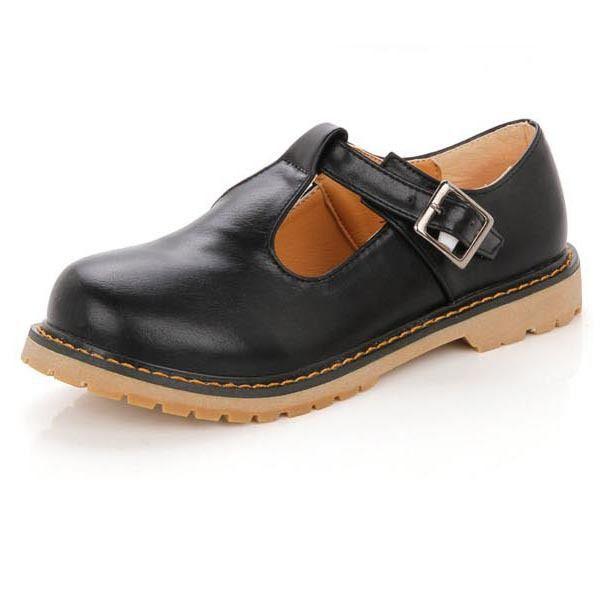 Novos Oxfords Sapatos Preto Marrom Vermelho Para As Mulheres Causal das Mulheres PU Sapatos de Couro Mulher Apartamentos Bracelete Senhoras Sping Outono Oxfords em Apartamentos das mulheres de Sapatos no AliExpress.com | Alibaba Group