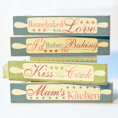 Lovely Vintage Kitchen Signs From Www Rosewater Ie