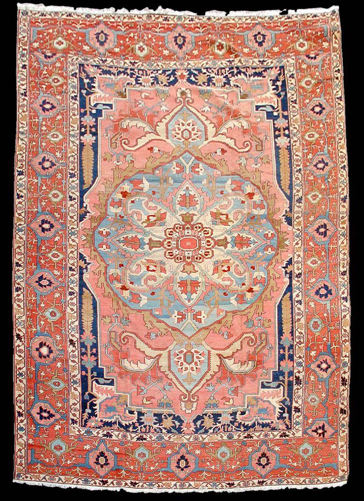 A very elegant and softly colored Serapi carpet, Azerbaijan, NW Iran