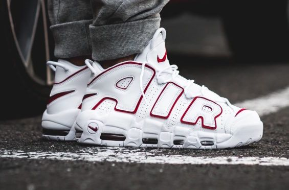 ed604ca07a832 Release Reminder  Nike Air More Uptempo White Varsity Red The Nike Air More  Uptempo White