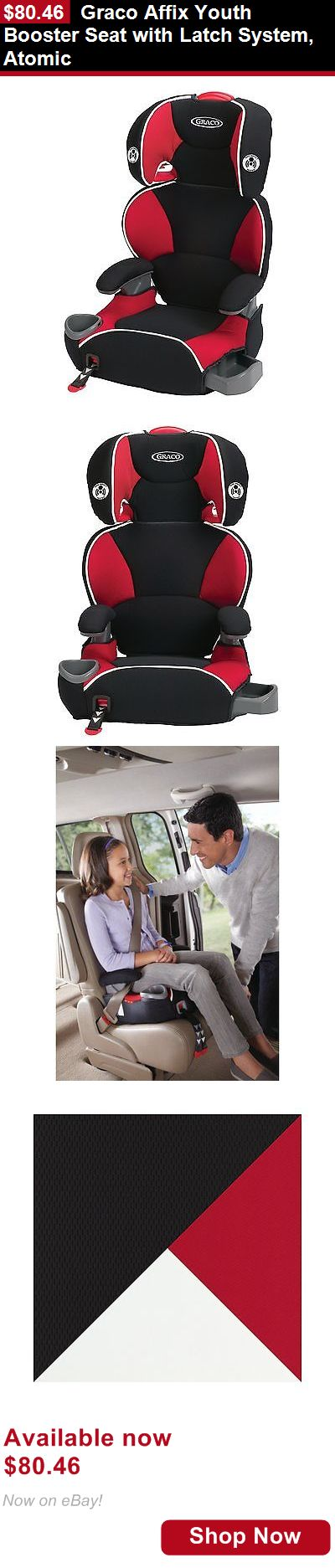 Booster Seats: Graco Affix Youth Booster Seat With Latch System, Atomic BUY IT NOW ONLY: $80.46