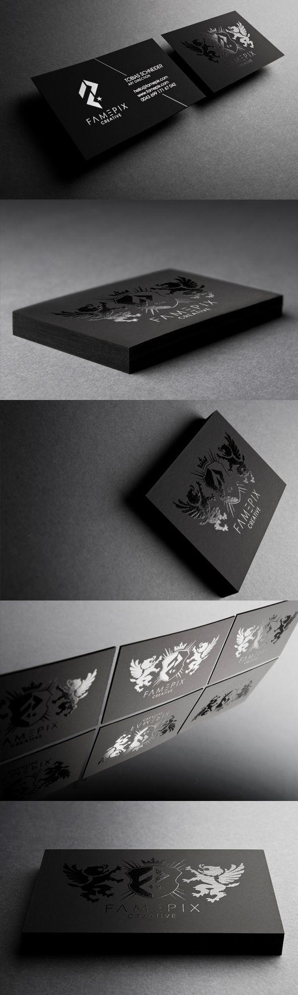 Black BusinessCards - Famepix - Business Cards - Creattica