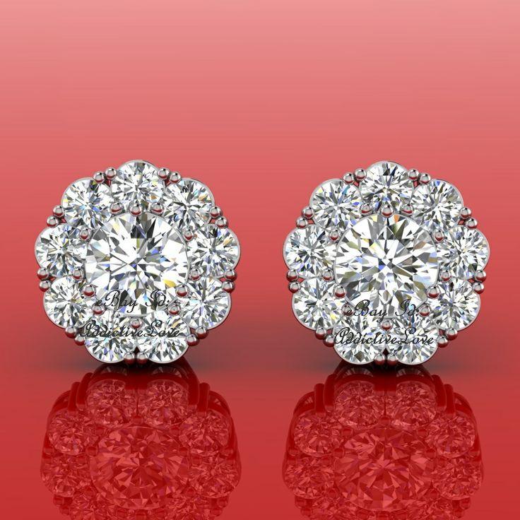 18kt Gold Designer Manmade 36 2ct Diamond Flower Ring Earrings Necklace Set 0 00 Http