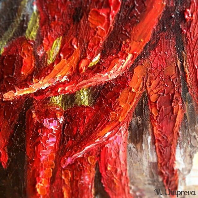 chuprovart-red-pepper-oil-painting Натюрморт, красные перцы, картина маслом  by Chuprova Margarita