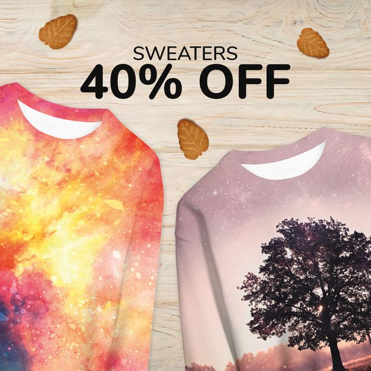 Fall into Fall! 🍁🍂  On Live Heroes, prices fall along with autumn leaves! 😱  Get ready for the low prices weekend👉 all sweaters 40% off!!   Check out: liveheroes.com/en/shop/women/sweater?special=featured