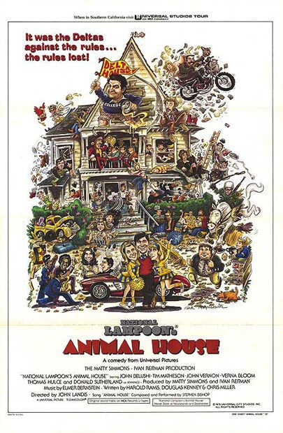 16. National Lampoon's Animal House (1978) - The 75 Most Iconic Movie Posters of All Time | Complex