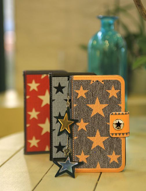Celebrate Top Star Handmade Wallet Case for Galaxy S6 Edge Plus