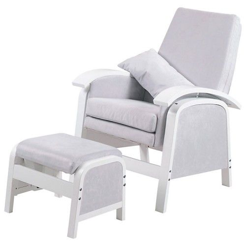 Kub Rosewell Glider Nursing Chair and Foot Stool - Grey