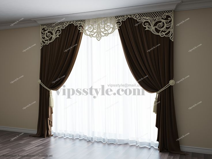 "Студия декора ""VIP's style"" (WWW.VIPSSTYLE.COM). Каталог 2015. Лазерная резка. Ажурный ламбрекен М024. (Laser cutting. Window decor)"