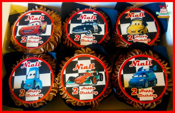 Lightening Mcqueen Cars Cupcakes Chocolate Flavour cars-lightening-mcqueen-cupcakes-chocolate