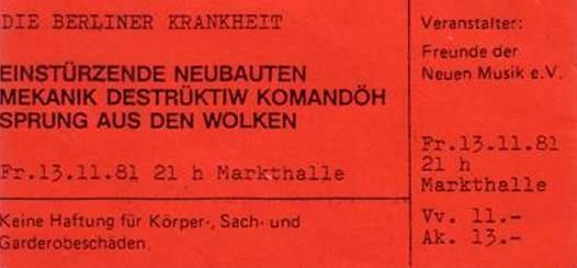 13-Nov-81  GE Hamburg,Markthalle  [with MDK + Sprung aus den Wolken]