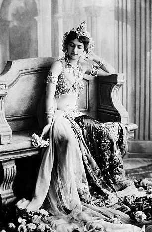 Mata Hari ( real name  Margaretha Geertruida Zelle) was an exotic dancer, born in the Netherlands who found fame in pre war Paris and was later executed for espionage in WWI.
