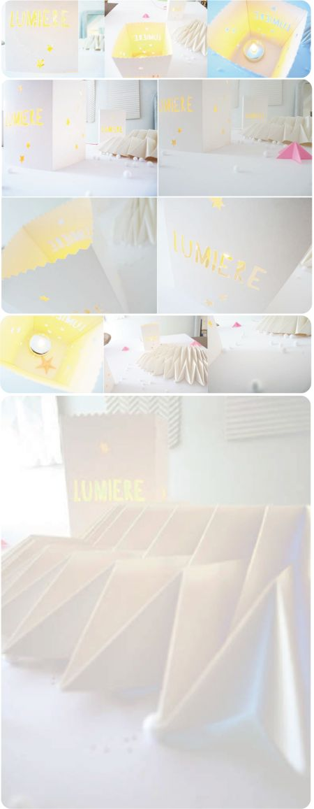 photophore, lumignon, papier découpé