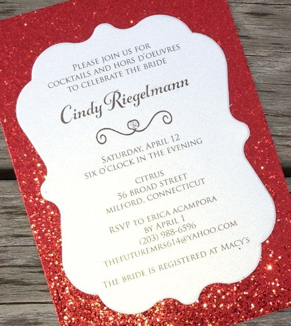 Hey, I found this really awesome Etsy listing at https://www.etsy.com/listing/213390644/red-bridal-shower-invitation-red-glitter