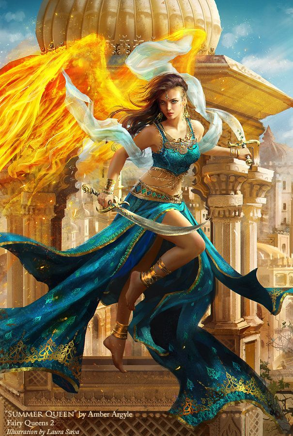 Summer Queen, Laura Sava on ArtStation at http://www.artstation.com/artwork/summer-queen