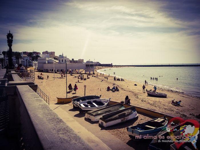 Playa de Cádiz. Andalucía, España.