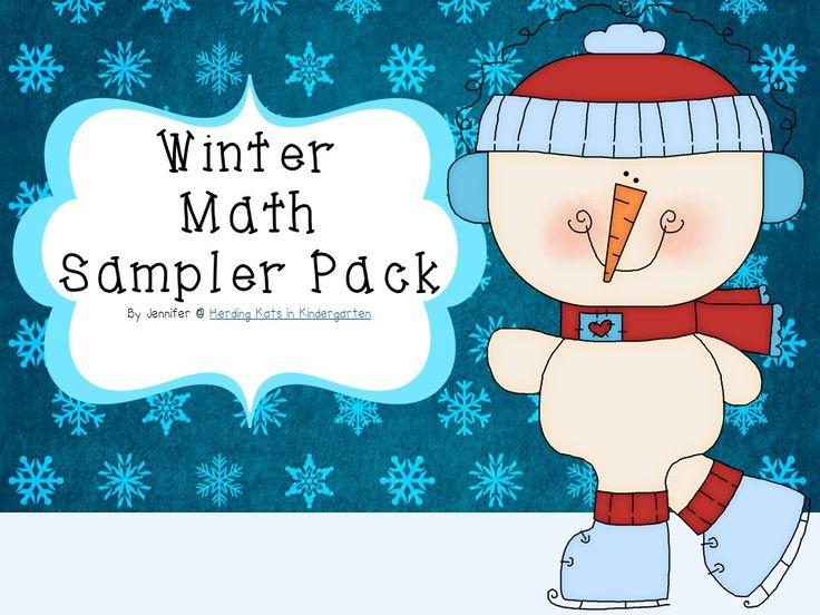 FREE Winter Math Centers!
