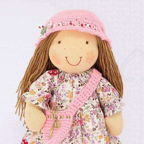 16 inch Waldorf style doll READY TO SHIP Custom doll Rag