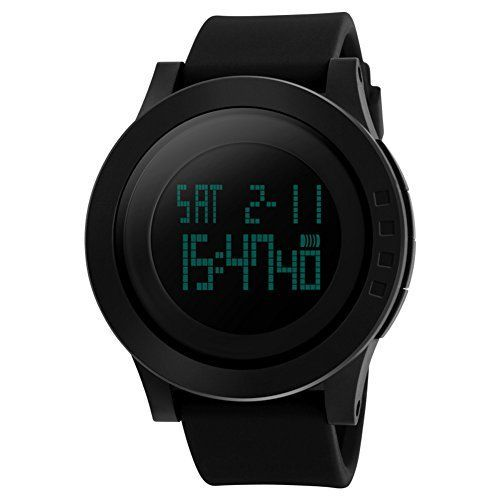 Now in stock Aposon Men's Digital Electronic Waterproof LED Sport Watch Casual Quartz Military Multifunction 12H/24H Time Back Light with Simple Design 164FT 50M Water Resistant Calendar Month Date Day -Black