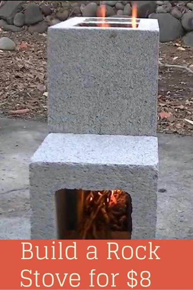 Cinder block firepit