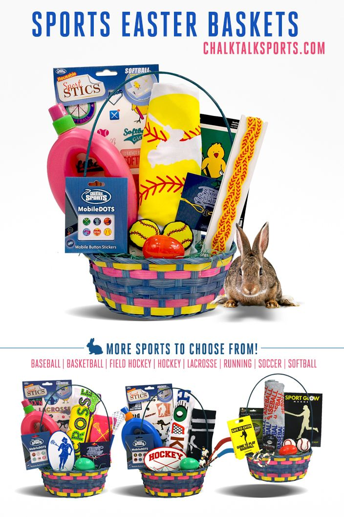 79 best sports easter baskets images on pinterest easter baskets a great gift for any softball player for easter only at chalktalksports negle Gallery
