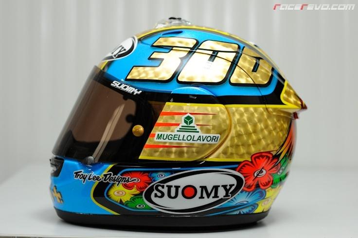 Loris Capirossi's Gold Plated Helmet