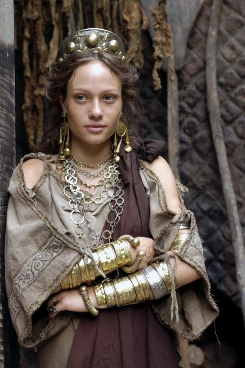 "Chiara Mastalli as ""Eirene"" in Rome Character."