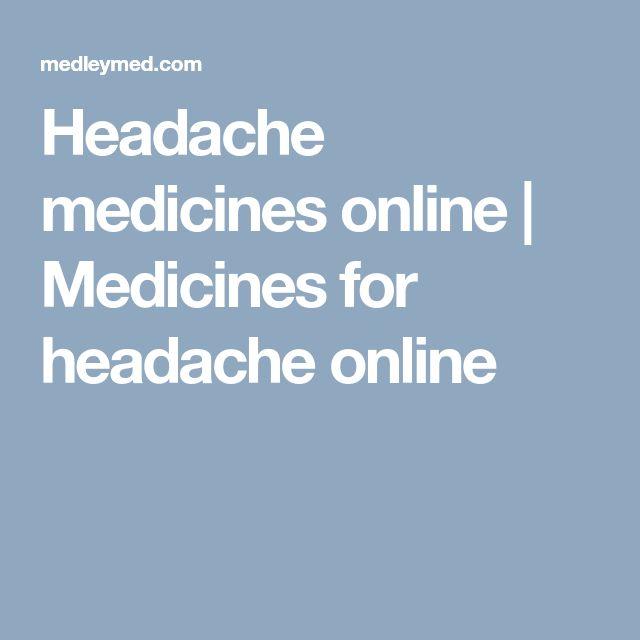 Headache medicines online | Medicines for headache online
