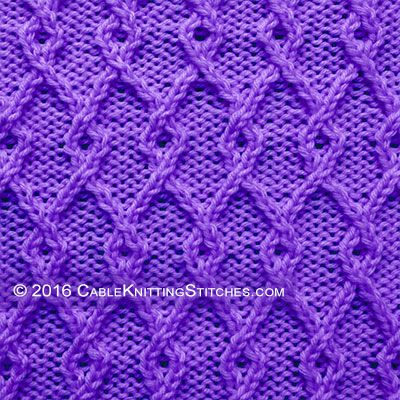 Cable Knitting Stitches » Twist Stitch » Interlocking Lattice
