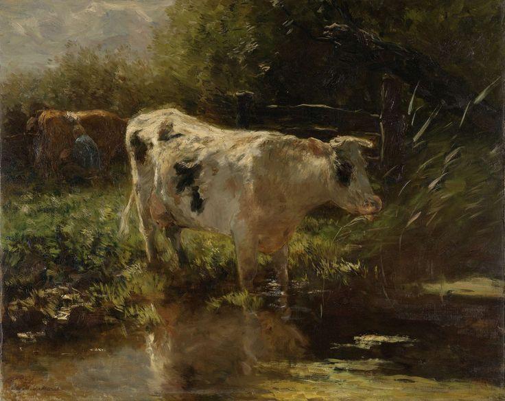 Koe aan de slootkant, Willem Maris, ca. 1885 - ca. 1895
