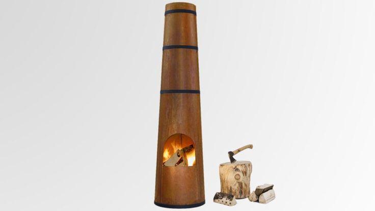 Smokestack Fire Pit by Frederik Roijé | Covet | OutsideOnline.com