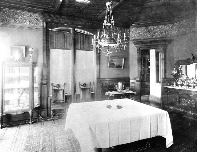 19th Century American House Interior | House, Cortland, New York.  Photograph, 1890