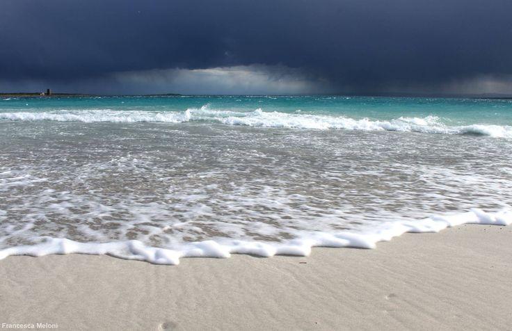 Sardegna-La spiaggia de La Pelosa a Stintino prima del temporale  Foto di Francesca Meloni