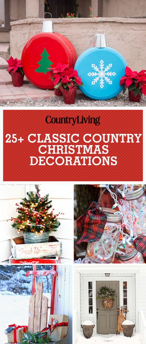 1647 best christmas decorations crafts images on pinterest for Country living outdoor christmas decorations