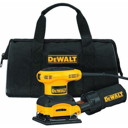 Dewalt Power Tools D26441K 1/4 Sheet Heavy-Duty Palm Grip Sander Kit, White